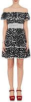 Marc Jacobs Women's Polka Dot Silk Off-The-Shoulder Dress