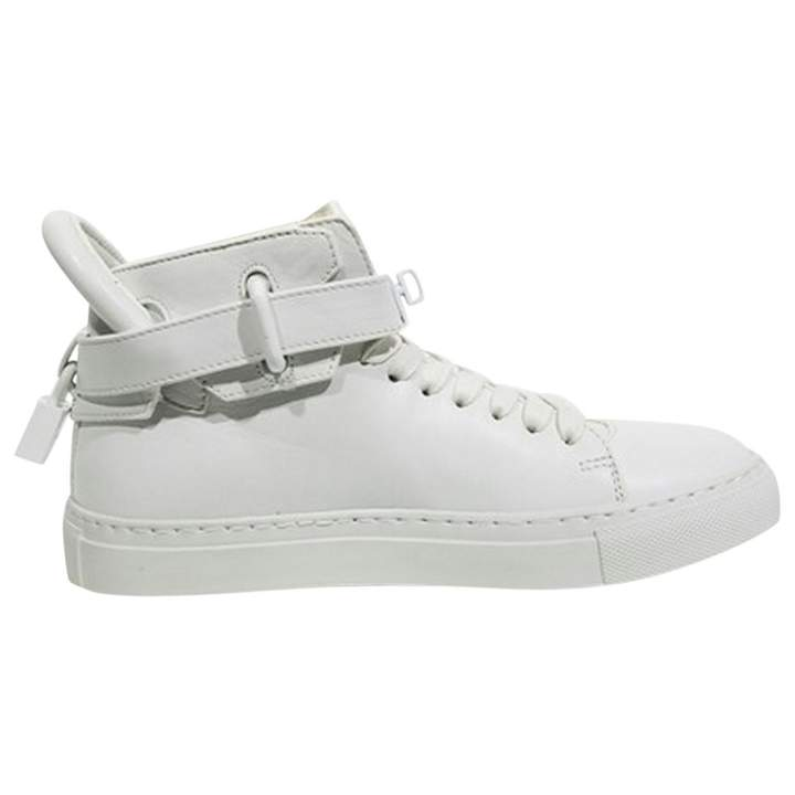 Buscemi White Leather Trainers
