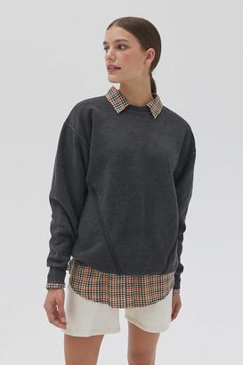 Urban Renewal Vintage Recycled Zipper Crew Neck Sweatshirt