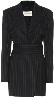 Alexandre Vauthier Striped stretch-wool minidress