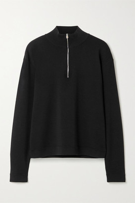 The Row Molly Ribbed Merino Wool And Cashmere-blend Sweater - Black