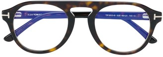Tom Ford Round Tortoise Shell Glasses
