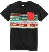 Young & Reckless Men's Wolfmother Geo-Stripe Cotton Pocket T-Shirt