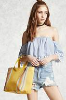 Forever 21 Woven Striped Tote Bag