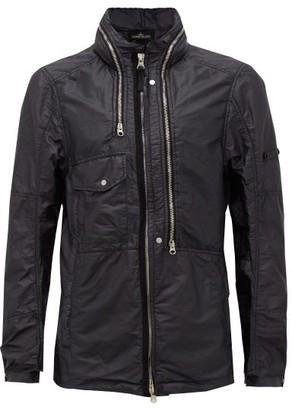 Stone Island Shadow Project Zipped Resin-coated Shell Jacket - Black