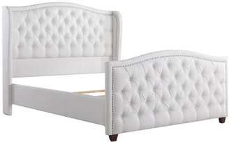 Jennifer Taylor Marcella Tufted Wingback Queen Bed