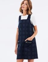 Miss Selfridge Check Pinny Dress