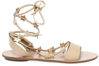 Loeffler Randall Star Leather Ankle-Strap Sandals