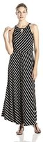 Calvin Klein Women's Striped Keyhole Maxi Dress