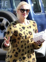 Gwen Stefani Quay Eyeware Polygon Sunglasses in Black and Leopard as seen on