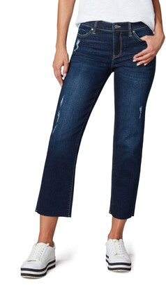 Liverpool Los Angeles x Living in Yellow Cut Hem Ankle Straight Leg Jeans