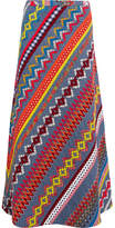 Tory Burch Clemente Embroidered Cotton Maxi Skirt - US2