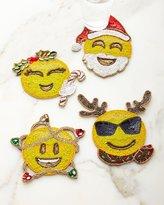 Kim Seybert Merry Emojis Coasters, Set of 4