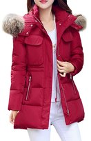 Partiss Womens Winter Warm Down Coat with Faux Fur Trim