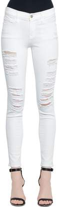 Frame Skinny Le Color Destroyed Denim Jeans