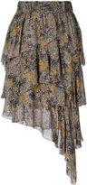 Etoile Isabel Marant embroidered asymmetric skirt - women - Viscose - 36