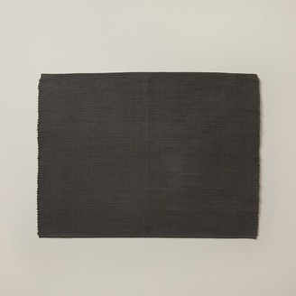 Indigo Solid Ribbed Placemat Charcoal