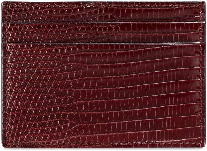 Gucci Lizard card case