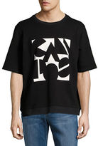 Carlos Campos Abstract Logo Short Sleeve Sweatshirt