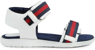 Gucci Kids Children's leather sandal with Web