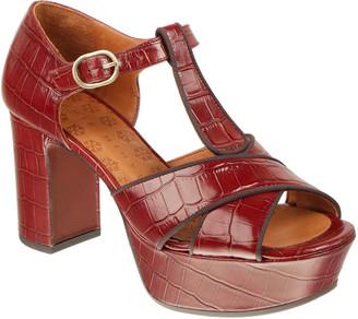 Chie Mihara Felia Mock-Croc Platform Sandals