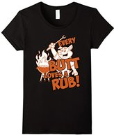 Special Tee Women's BBQ Every Butt Loves A Rub T-Shirt Large