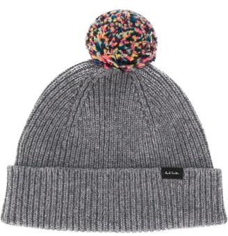 Paul Smith Pom Pom Knitted Beanie Hat