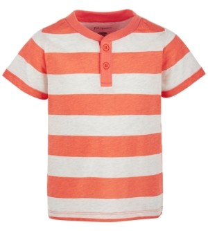 First Impressions Baby Boys Rugby-Stripe Henley T-Shirt, Created for Macy's