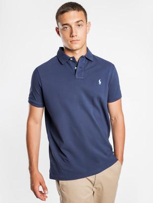 Polo Ralph Lauren Custom Slim Polo T-Shirt in Navy