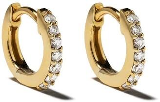 Astley Clarke 14kt Yellow Gold Mini Halo Diamond Hoop Earrings