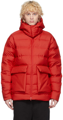 Y-3 Red Down Classic Puffy Jacket
