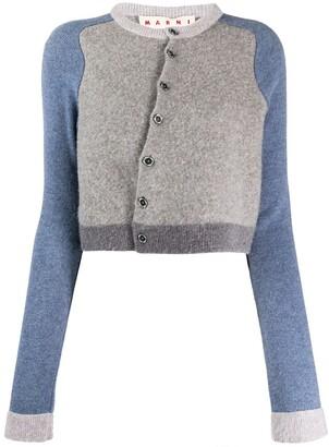 Marni Contrast Sleeves Cardigan