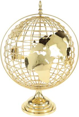 Uma Enterprises Decorative Gold Metal Spinning Globe