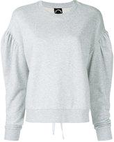 The Upside lace fleece crew neck sweatshirt