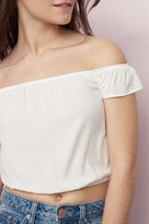 Garage Off-Shoulder Crop Top