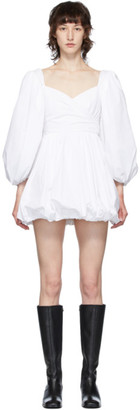 Wandering White Wrap Bodice Dress
