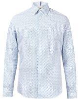 Burton Mens West End by Simon Carter Blue Triangle Slim Fit Cotton Shirt*