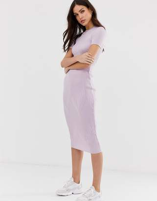 Asos Design DESIGN two-piece knitted midi skirt-Purple