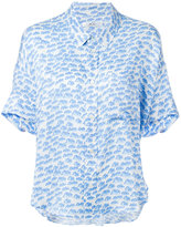Julien David printed shortsleeved shirt - women - Silk - S