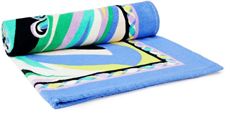Emilio Pucci Printed Cotton-terry Beach Towel