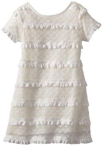 Rare Editions Girls Eyelash Dress