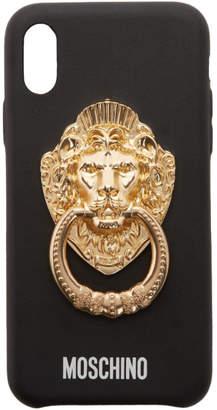 Moschino Black Lion Head Handle iPhone XS Case