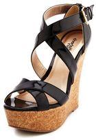 Charlotte Russe Patent Color Block Wedge Sandal