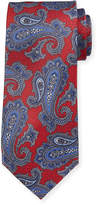Neiman Marcus Italian-Made Paisley-Print Silk Tie