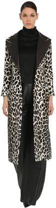 16Arlington LONG LEOPARD PRINT PONYSKIN COAT
