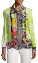 Versace Floral Silk Blouse
