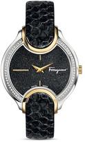 Salvatore Ferragamo Icon Two-Tone Watch with Diamonds, 38mm