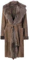 Desa Collection - belted shearling coat - women - Sheep Skin/Shearling - 38