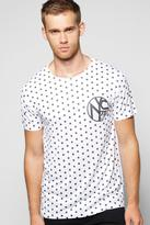 Boohoo All Over Spot NYC Sublimation T-Shirt