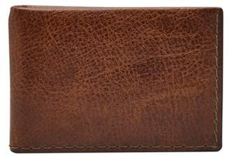 Fossil Beck Money Clip Bifold Wallets Cognac